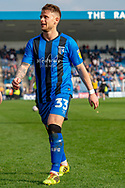 Gillingham FC midfielder Mark Byrne (33) during the EFL Sky Bet League 1 match between Gillingham and Rochdale at the MEMS Priestfield Stadium, Gillingham, England on 30 March 2019.