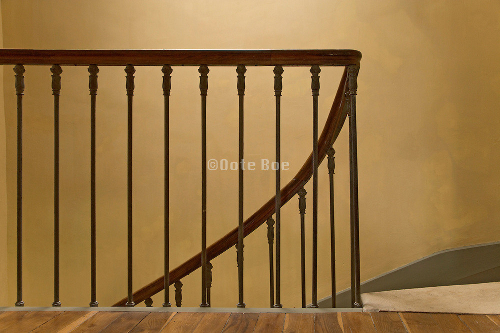 railing in a stairwell