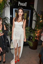 DOINA CIOBANU at the Piaget Mediterranean Garden Summer Party held at Piaget, 169 New Bond Street, London on 15th July 2015.