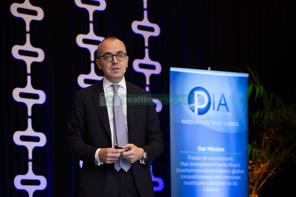 November 1, 2018 - PR, Puerto Rico - Giovanni Caforio, CEO BMS Company (Credit Image: © Erika P. Rodriguez/El Nuevo Dias via ZUMA Press)