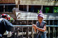 Indonesia, Sumatra. Samosir. Simanindo on the northern tip of Samosir is the cultural center of Samosir, with a museum. Batak dance performance.