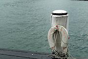 Emergency life-preserver, Pyrmont Bay,  Sydney, Australia