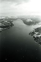 Flyfoto av Sunnmørsalpene om vinteren.<br /> Foto: Svein Ove Ekornesvåg