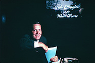 Frank Shakespeare, pictured as the head of USIA during the Nixon administration.<br />Photo by Dennis Brack bb72