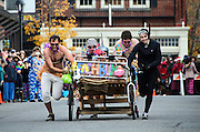 Racers at the annual Bed Races, Bar Harbor, Maine.