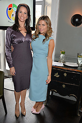 Left to right, ANDREA McLEAN and ZOE HARDMAN at the mothers2mothers Mother's Day Tea hosted by Nadya Abela at Morton's, Berkeley Square, London on 12th March 2015.  mothers2mothers is a charity working to eliminate mother to child transmission of HIV/AIDS across sub-Saharan Africa.