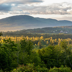 The view from a clearing in a working forest in Bethel, Maine.