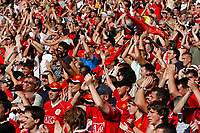 Photo: Richard Lane/Sportsbeat Images.<br />Manchester United v Chelsea. FA Community Shield. 05/08/2007. <br />Manchester United fans celebrate victory.