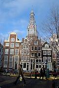 Zuiderkerkhof, Church, street scene Amsterdam, on a bright December, 2006