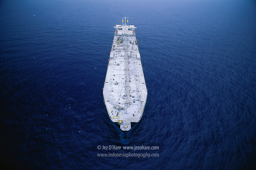 Floating storage tanker, South China Sea, Indonesia.