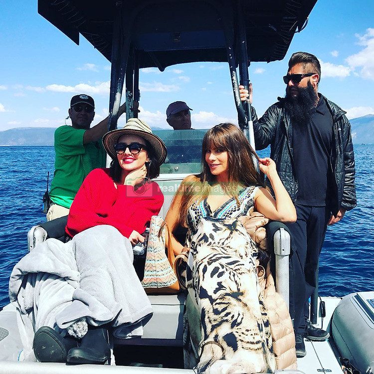 """Sofia Vergara releases a photo on Instagram with the following caption: """"#modernfamily\ud83c\udfac @jesselbaumshanahan"""". Photo Credit: Instagram *** No USA Distribution *** For Editorial Use Only *** Not to be Published in Books or Photo Books ***  Please note: Fees charged by the agency are for the agency's services only, and do not, nor are they intended to, convey to the user any ownership of Copyright or License in the material. The agency does not claim any ownership including but not limited to Copyright or License in the attached material. By publishing this material you expressly agree to indemnify and to hold the agency and its directors, shareholders and employees harmless from any loss, claims, damages, demands, expenses (including legal fees), or any causes of action or allegation against the agency arising out of or connected in any way with publication of the material."""