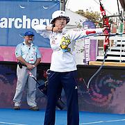 HAN Gyeonghee (KOR) competes in Archery World Cup Final in Istanbul, Turkey, Sunday, September 25, 2011. (AP Photo/TURKPIX)