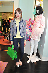 ELLA CATLIFF at the Kate Spade NY hosted Chelsea Flower Show Tea Party held at Kate Spade, 2 Symons Street, London on 23rd May 2013.