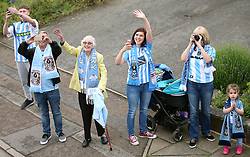 Coventry City fans during the Sky Bet League Two promotion parade in Coventry.