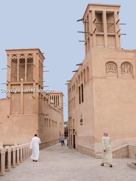 Historic Bastakia Quarter Bur Dubai, Dubai, United Arab Emirates, UAE
