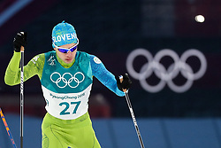 PYEONGCHANG-GUN, SOUTH KOREA - FEBRUARY 14: Vid Vrhovnik of Slovenia competes during the Nordic Combined Individual Gundersen Normal Hill and 10km Cross Country on day five of the PyeongChang 2018 Winter Olympics at Alpensia Cross-Country Centre on February 14, 2018 in Pyeongchang-gun, South Korea.  Photo by Kim Jong-man / Sportida