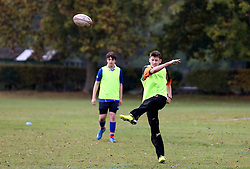 Children take part in the Worcester Warriors Half Term Holiday Camp - Mandatory by-line: Robbie Stephenson/JMP - 26/10/2016 - RUGBY - Warwick School - Warwick, England - Worcester Warriors Half Term Holiday Camp