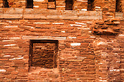 Wall detail at Abo Ruins, Salinas Pueblo Missions National Monument., New Mexico, USA