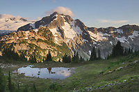 Whatcom Peak seen from Tapto Lakes Basin on Red Face Peak, North Cascades National Park