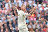 Ben Stokes of England reacts to a decision during day 3 of the 5th test match of the International Test Match 2018 match between England and India at the Oval, London, United Kingdom on 9 September 2018.