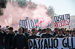 March 29, 2019 - Rome, Italy - Students protest in the streets of Rome against the reform of the state exam. (Credit Image: © Valerio Portelli/LaPresse via ZUMA Press)