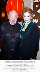 MR & MRS JOHN RITCHIE, he is the father of Guy Ritchie husband of pop star Madonna at a party held at Shanghai Tang, 6b Sloane Street, London SW1 on 30th January 2003 to celebrate the Chinese New Year.