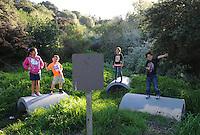 From left, Cierra and Adan Espinoza, with Kamyla and Matthew Cruz Mendoza at Salinas' Natividad Creek Park.