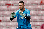 Bradford City goalkeeper Richard O'Donnell (1) warming up  during the EFL Sky Bet League 1 match between Bradford City and Sunderland at the Northern Commercials Stadium, Bradford, England on 6 October 2018.