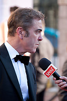 Actor James Nesbitt  being interviewed at the 2017 IFTA Film & Drama Awards at the Round Room of the Mansion House, Dublin,  Ireland Saturday 8th April 2017.