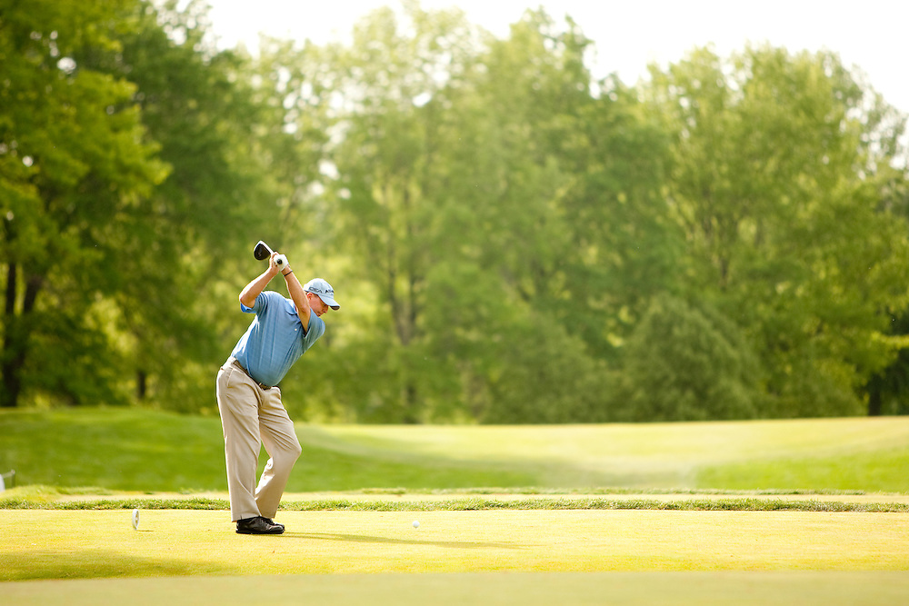 Scott Hoch. 2009 Senior PGA Championship, Round 2. Photographed at Canterbury Golf Club in Beachwood, Ohio on Friday, May 22 2009. Photograph © 2009 Darren Carroll