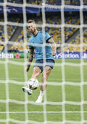 May 25, 2018 - Kiev, Ukraine - Real Madrid's Sergio Ramos is seen on the field  after the training session for UEFA Champions League Final against Liverpool FC at NSC Olimpiyskyi in Kyiv, Ukraine, May 25, 2018. UEFA Champions League Final  (Credit Image: © Sergii Kharchenko/NurPhoto via ZUMA Press)