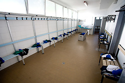 Change room of Slovenian National football team before practice a day before the last 2010 FIFA Qualifications match between San Marino and Slovenia, on October 13, 2009, in Olimpico Stadium, Serravalle, San Marino.  (Photo by Vid Ponikvar / Sportida)