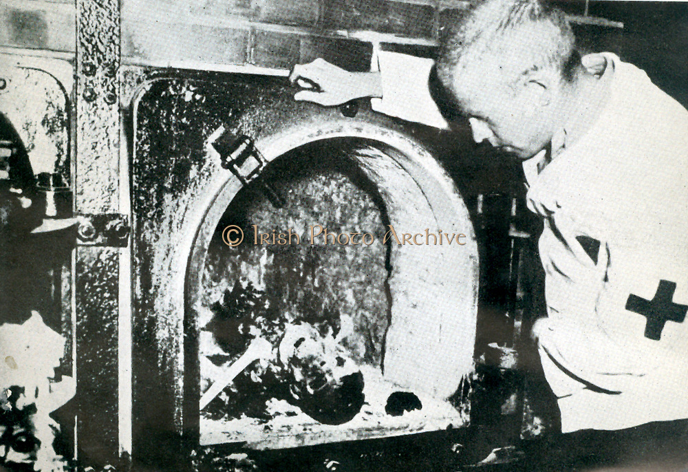One of the crematorium ovens at Buchenwald.