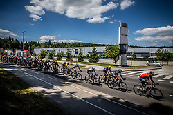 Peloton at Adria Mobil factory during last Stage 4 of 24th Tour of Slovenia 2017 / Tour de Slovenie from Rogaska Slatina to Novo mesto (158,2 km) cycling race on June 18, 2017 in Slovenia. Photo by Vid Ponikvar / Sportida