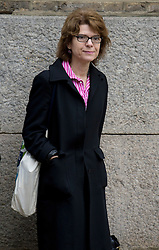 © London News Pictures. 06/03/2013 . London, UK.  Vicky Pryce arriving at Southwark Crown Court on March 6, 2013 where a jury is currently considering a verdict in her  trial for perverting the course of justice. Vicky Pryce admitted accepting penalty points incurred by her former husband and disgraced MP Chris Huhne in 2003. Photo credit : Ben Cawthra/LNP