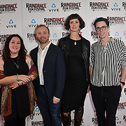 The Opinions team nominated attends the Raindance Film Festival - VR Awards, London, UK. 6 October 2018.