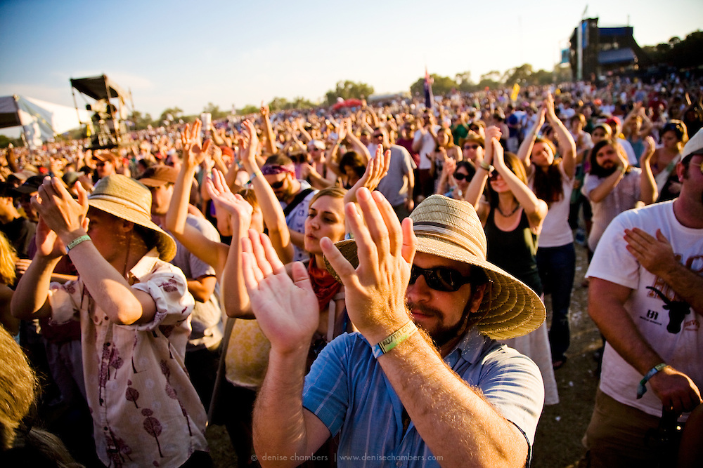 The crowd enjoys a great performance at the Austin City Limits Music Festival.