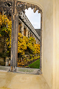 Oxford, GREAT BRITAIN., Royal visit to Magdalen College, View from one of the corridors to the Quadrangle, Thursday 27/11/2008, [Mandatory Credit Peter Spurrier]