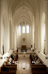 The Abbey of Notre Dame de Scourmont was founded in 1850 and is currently home to 22 monks including seven visiting monks from Africa. In 1862 the monks started brewing Chimay beer as a means of supporting themselves. However today, the monks do not directly participate in the beer production. (Photo © Jock Fistick)