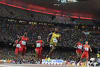 Usain Bolt (JAM) wins the Gold Medal and Justin Gatlin (USA), Tyson Gay (USA), Trayvon Bromell (USA) in 100 Metres Men Final during the IAAF World Championships, Beijing 2015, at the National Stadium, in Beijing, China, Day 2, on August 23, 2015 - Photo Stephane Kempinaire / Julien Crosnier / KMSP / DPPI