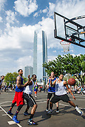 OKC Street basketball at The Cage in downtown Oklahoma City during the spring Arts Festival