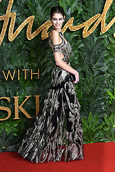 Kaia Jordan Gerber attending the Fashion Awards in association with Swarovski held at the Royal Albert Hall, Kensington Gore, London