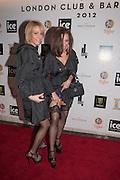 ANYA DASCALU; FRANKIE MAFTEI, London Bar & Club Awards.  Annual awards honouring the best of London nightlife, InterContinental Hotel, Park Lane, London, 12 June 2012.