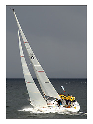 Yachting- The second start of the Bell Lawrie Scottish series 2002 at Inverkip racing to Tarbert Loch Fyne where racing continues over the weekend.<br /><br />sigma 33 Pepsi IRL633 power towards a rain Squall<br /> <br />Pics Marc Turner / PFM