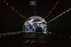 THEMENBILD - ein Auto fährt durch das Hochtor von Kärnten nach Salzburg. Die Grossglockner Hochalpenstrasse verbindet die beiden Bundeslaender Salzburg und Kaernten und ist als Erlebnisstrasse vorrangig von touristischer Bedeutung, aufgenommen am 02. Juni 2019 in Fusch a. d. Grossglocknerstrasse, Österreich // a car drives through the Hochtor from Carinthia to Salzburg. The Grossglockner High Alpine Road connects the two provinces of Salzburg and Carinthia and is as an adventure road priority of tourist interest, Fusch a. d. Grossglocknerstrasse on 2019/06/02, Kaprun, Austria. EXPA Pictures © 2019, PhotoCredit: EXPA/ Stefanie Oberhauser