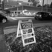 Charlotte, NC- November 8, 2016:  Would-be voters enter the parking lot of Hawthorne Recreation Center near uptown Charlotte, NC. CREDIT: LOGAN R. CYRUS