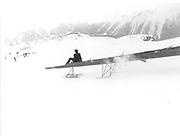 Dangerous Sports Club Ski Race. St.Moritz. 1981© Copyright Photograph by Dafydd Jones 66 Stockwell Park Rd. London SW9 0DA Tel 020 7733 0108 www.dafjones.com