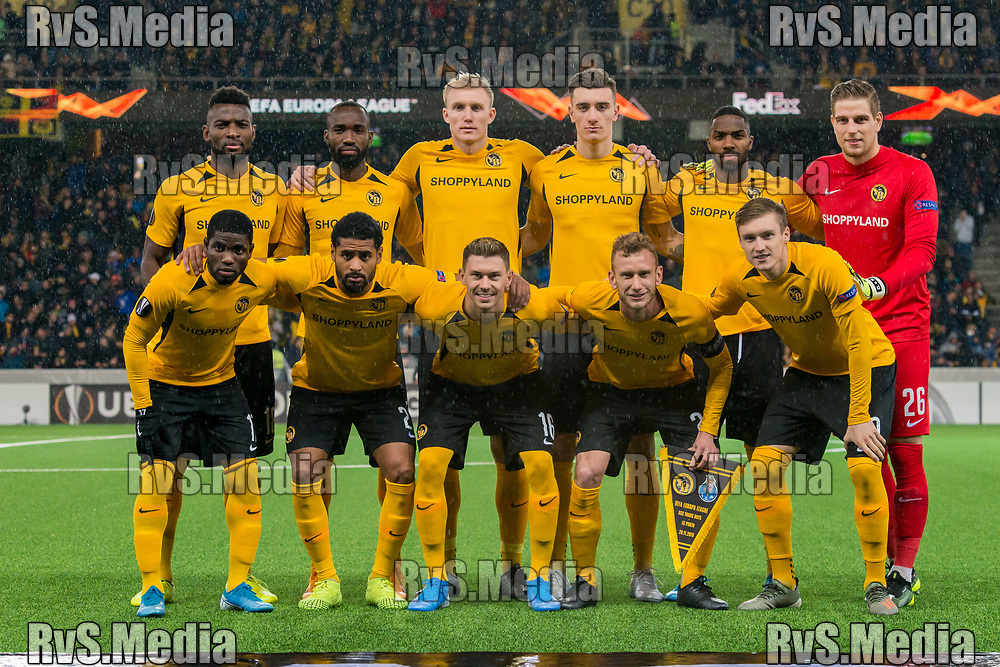 BERN, SWITZERLAND - NOVEMBER 28: Team BSC Young Boys pose for the group photo during the UEFA Europa League group G match between BSC Young Boys and FC Porto at Stade de Suisse, Wankdorf on November 28, 2019 in Bern, Switzerland. (Photo by Robert Hradil/RvS.Media)