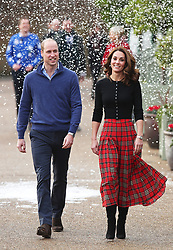 File photo dated 04/12/18 of the Duke and Duchess of Cambridge arriving at Kensington Palace, London, to host a Christmas party for families and children of deployed personnel from RAF Coningsby and RAF Marham serving in Cyprus. The Duchess of Cambridge will have spent a decade as an HRH when she and the Duke of Cambridge mark their 10th wedding anniversary on Thursday. Issue date: Wednesday April 28, 2021.