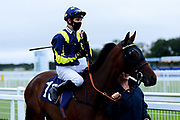 Rare Glam ridden by Charles Bishop and trained by Joseph Tuite ridden in the Home Of Winners At valuerater.co.uk Handicap - Mandatory by-line: Ryan Hiscott/JMP - 24/08/20 - HORSE RACING - Bath Racecourse - Bath, England - Bath Races